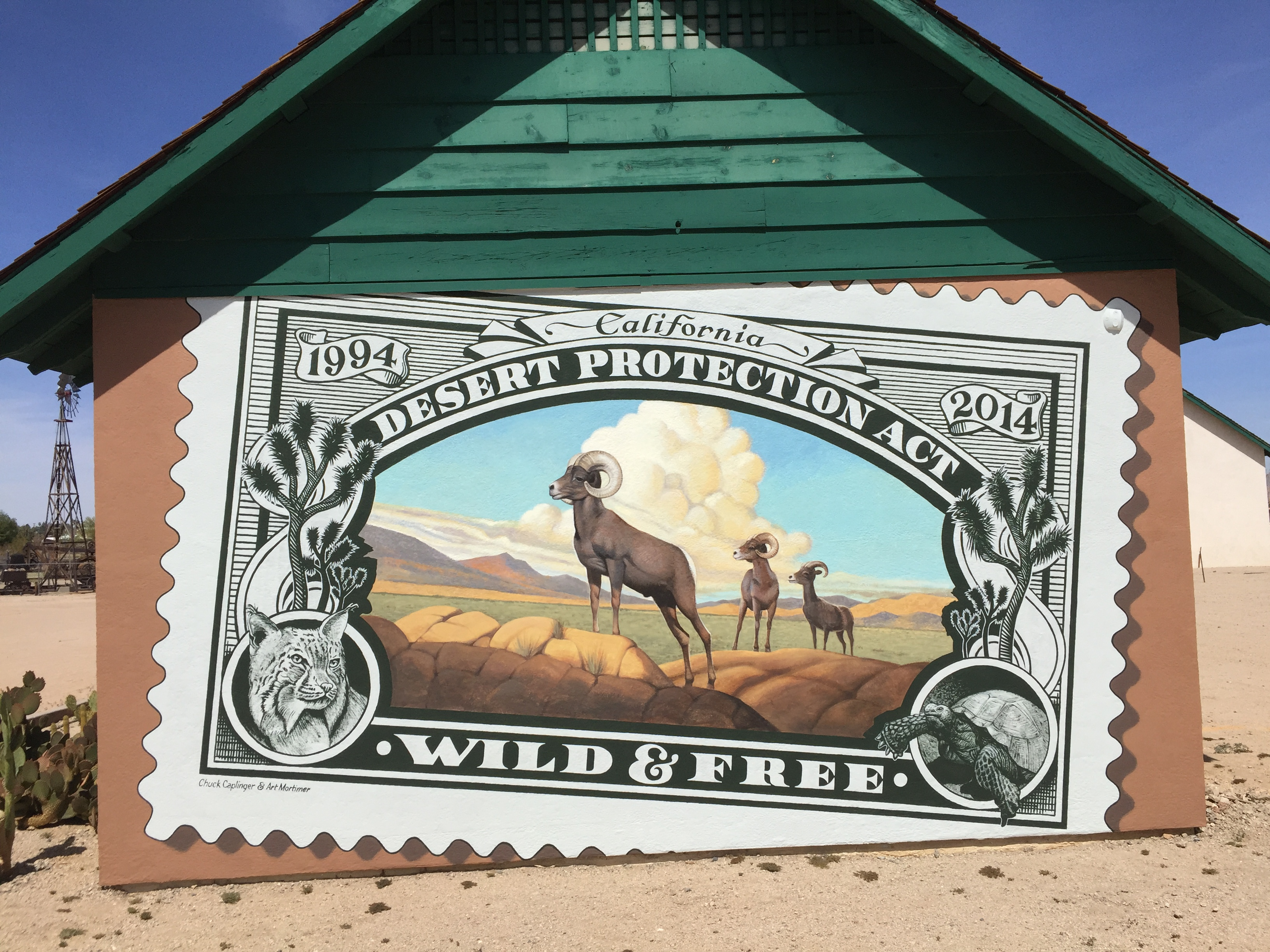 29 Palms schoolhouse mural