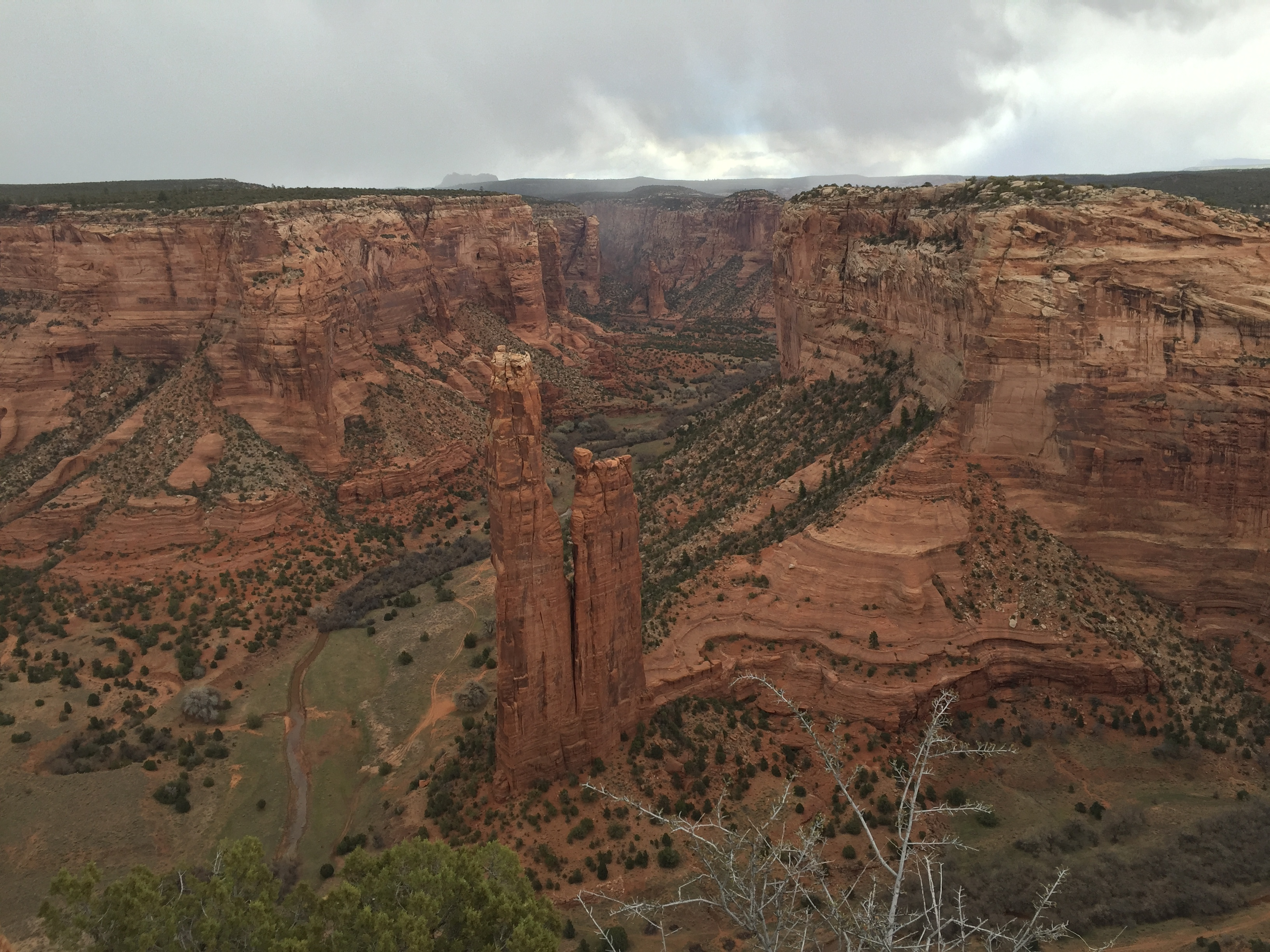 CDC Spider Rock with snow coming