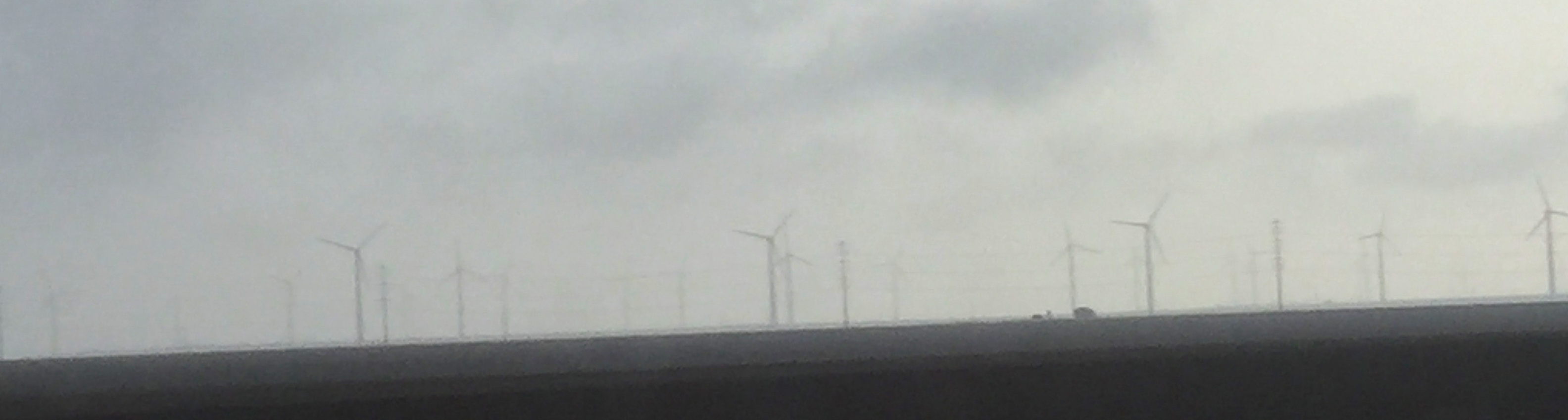 Windmills in the rain cropped